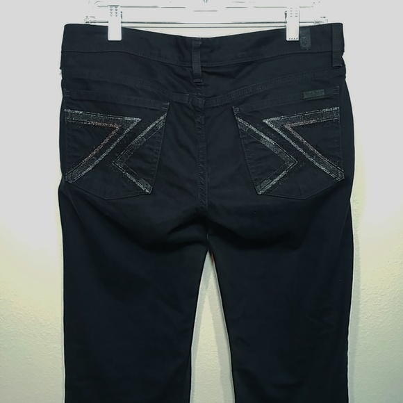 7a8eb7169ca 7 For All Mankind Jeans | Black Flynt Boot Cut Sz 30 | Poshmark